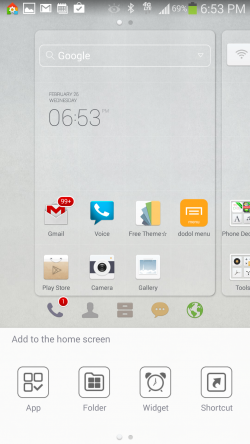 Dodol Launcher - Add to Home Screen