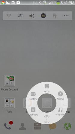 Dodol Launcher - Quick Settings