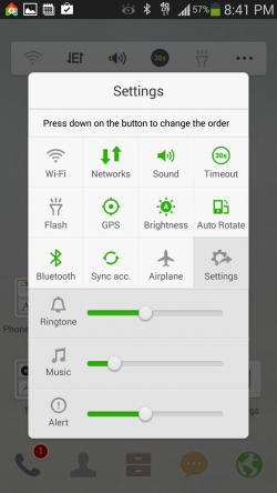 Dodol Launcher - Toolbar Settings