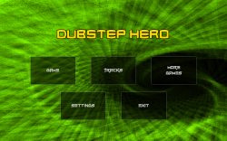 Dubstep Hero - Start Screen