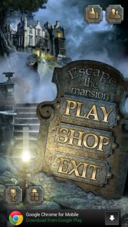 Escape the Mansion - Start Screen