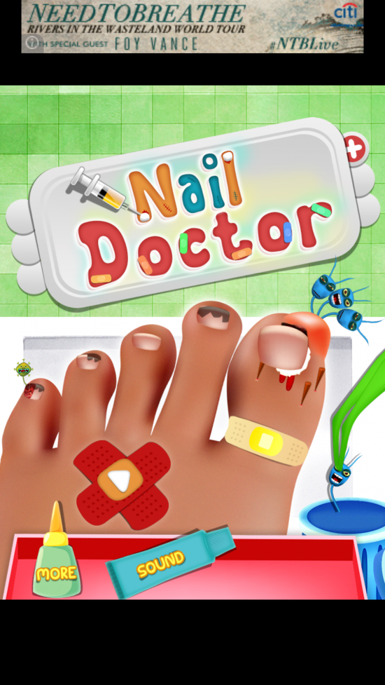 Nail Doctor – a virtual surgery game for toddlers