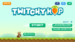 Twitchy Hop - Start Screen