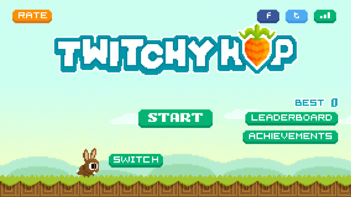 Twitchy Hop – play a new twist on the Flappy Bird gaming craze