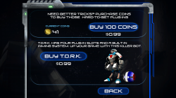 Astro Golf - Purchase Credits for Characters