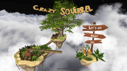 Crazy Flying Squirrel - Start Screen