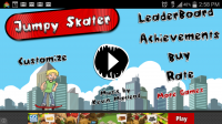 Jumpy Skater - Start Screen