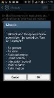 Moaxis - Conflict with Talkback Services