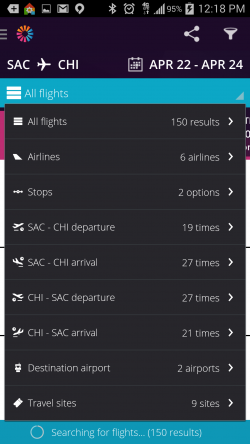 Momondo Cheap Flights and Hotels - Flight Filters