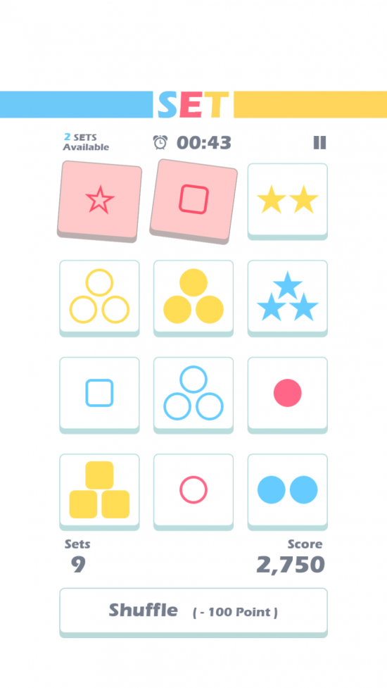 (New Game) Set of Threes – simple to play yet hard to master