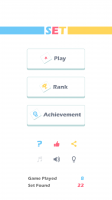 Set of Threes - Start Screen