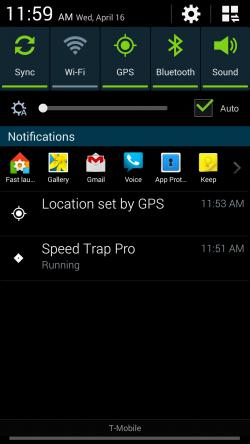 Speed Trap Pro - Running in Background