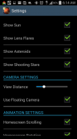 Unreal Space HD - Settings 2