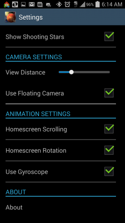 Unreal Space HD - Settings 3