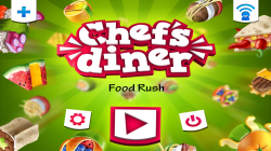 Chefs Diner Food Rush - Start Screen