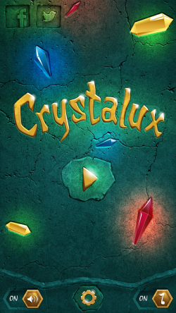 Crystalux Puzzle Game - Start Screen