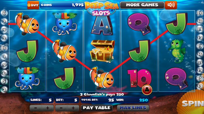Deep Sea Slots – play an adorable slot machine game