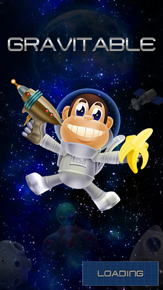 Gravitable – endless game to swipe & dodge to save the space monkey