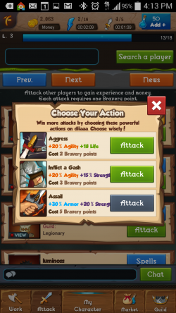 Heroic Legends - Attack Actions