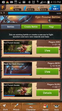 Heroic Legends - Battle List