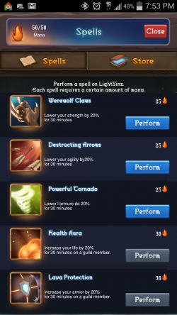 Heroic Legends - Spells
