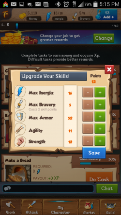 Heroic Legends - Upgrade Skill Points