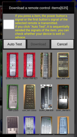 IR Remote Lite for SAMSUNG and HTC - Remote Auto Test