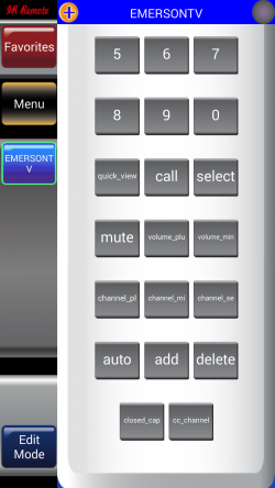IR Remote Lite for SAMSUNG and HTC - Remote Options