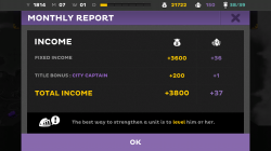 Kings League Odyssey - Monthly Income Report
