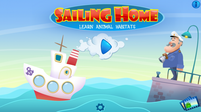Sailing Home – an educational game for preschoolers learning animal habitats