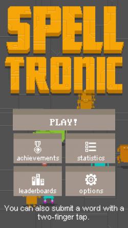 Spelltronic - Start Screen