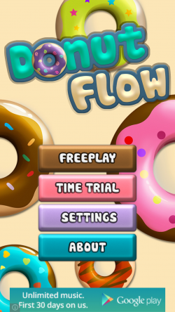 Donut Flow Saga - Start Screen