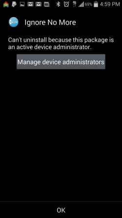Ignore No More - Manage Device Admins