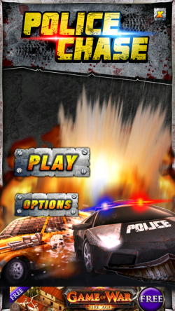 Police Chase – an endless tilt & blast 'em up game