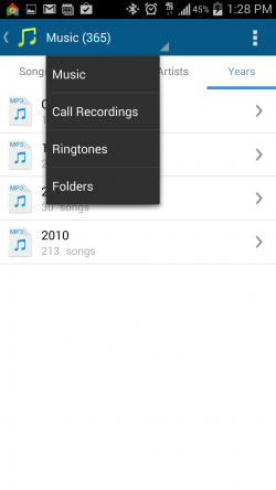Tomi File Manager - Music Filters