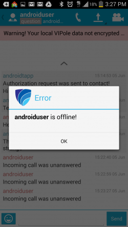 VIPole - Weird Error Showing User Offline When They Are Not