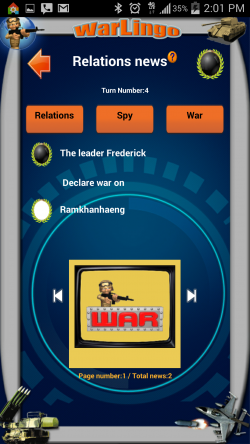 WarLingo - Relations News