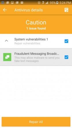 360 Security - Antivirus Scan Details