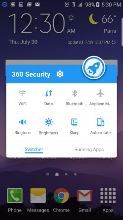 360 Security - Notifications Toggles