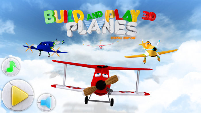 Build & Play 3D Planes Edition – interactive building game for young children