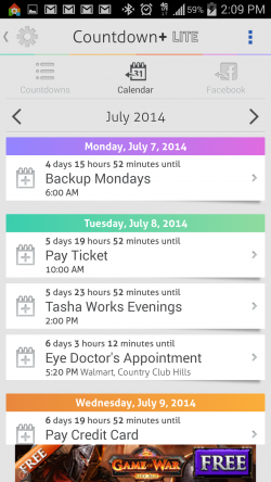 Countdown Widget Events Lite - Calendar Integration