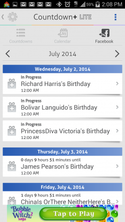 Countdown Widget Events Lite - Facebook Events