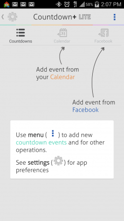 Countdown Widget Events Lite - How To Use