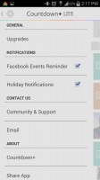 Countdown Widget Events Lite - Menu