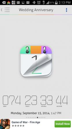 Countdown Widget Events Lite - Sample Countdown