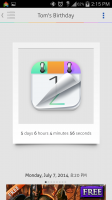 Countdown Widget Events Lite - Sample Polaroid Template