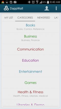 DappWall - Categories