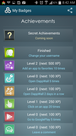 DappWall - Unlock Achievements