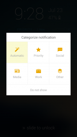 Echo Notification Lockscreen - Categorize Notification