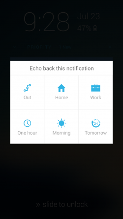 Echo Notification Lockscreen - Echo Back Notification